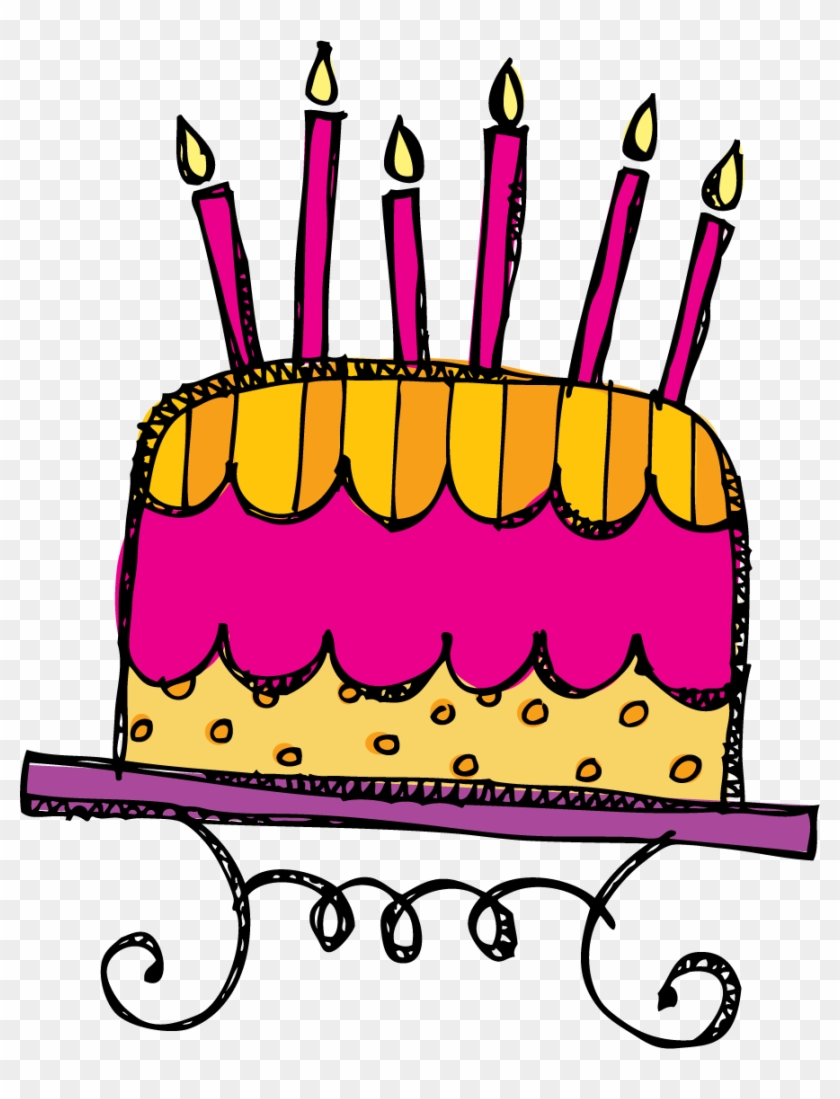 Thanks For All Of Your Support, Love You Guys - Birthday Doodle Clipart Png #96245