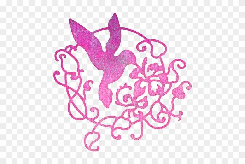 Cheery Lynn Designs Lace Hummingbird Flourish Die Cut - Cheery Lynn Designs #96273
