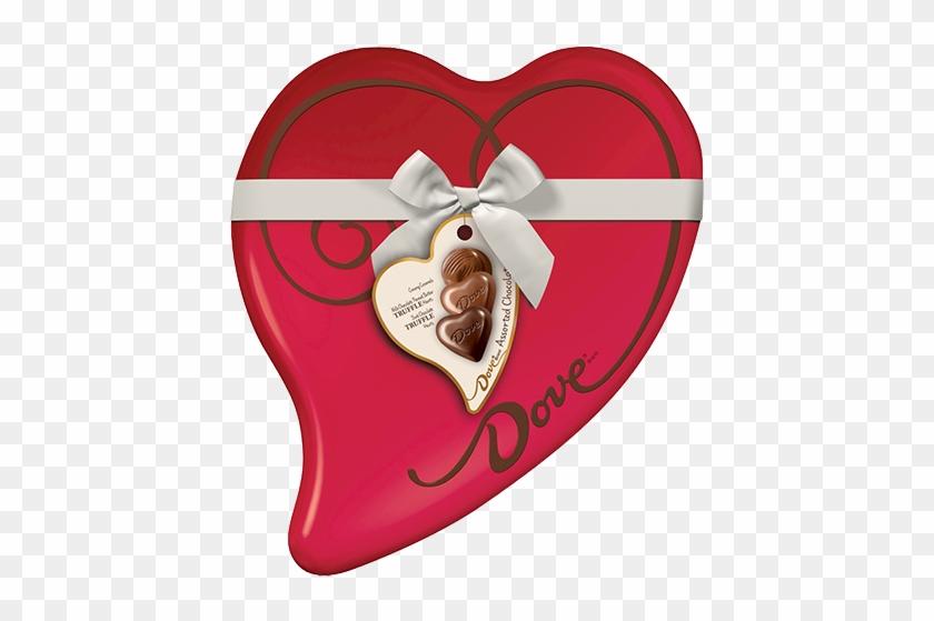 Dove Assorted Chocolates Heart Gift Tin - Dove Creamy Caramels, Milk Chocolate - 8.13 Oz #96306