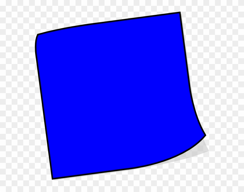 Post-it Clipart Blank Tag - Dark Blue Sticky Notes #96327