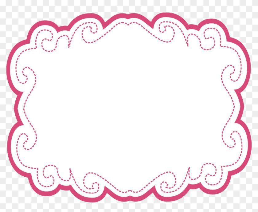 Candy Clipart - Moldura Arabesco Rosa Png #96420