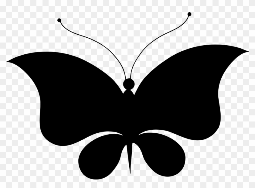 Free Photo Butterfly Silhouette Wings Animal Flourish - Butterfly Silhouette #96434