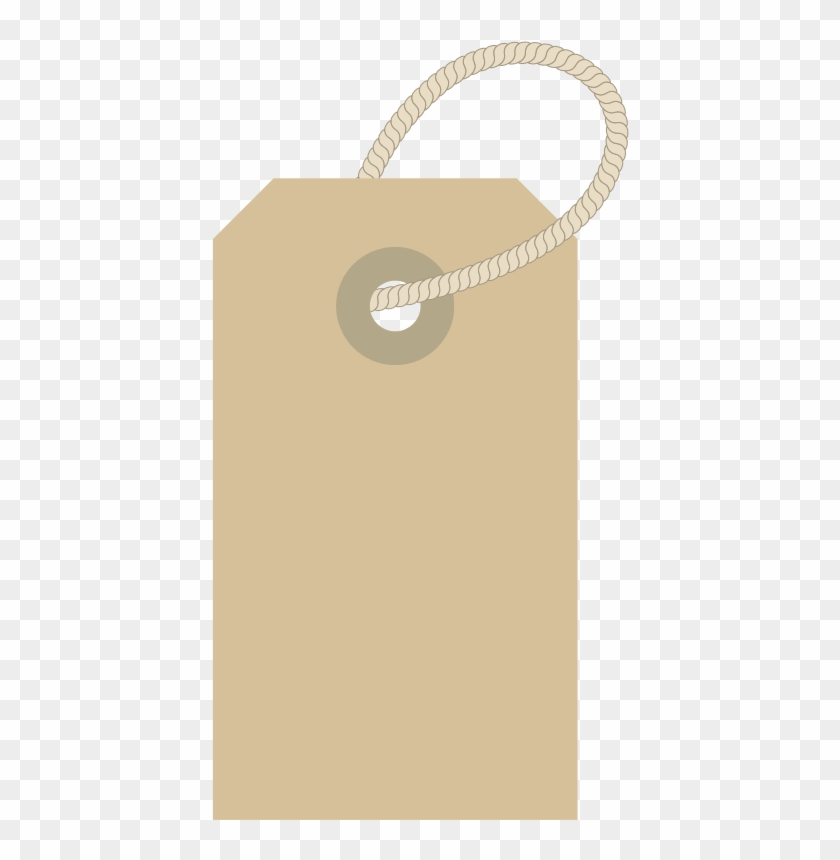 Clothing Label With Rope - Clothes Label Clipart #96479