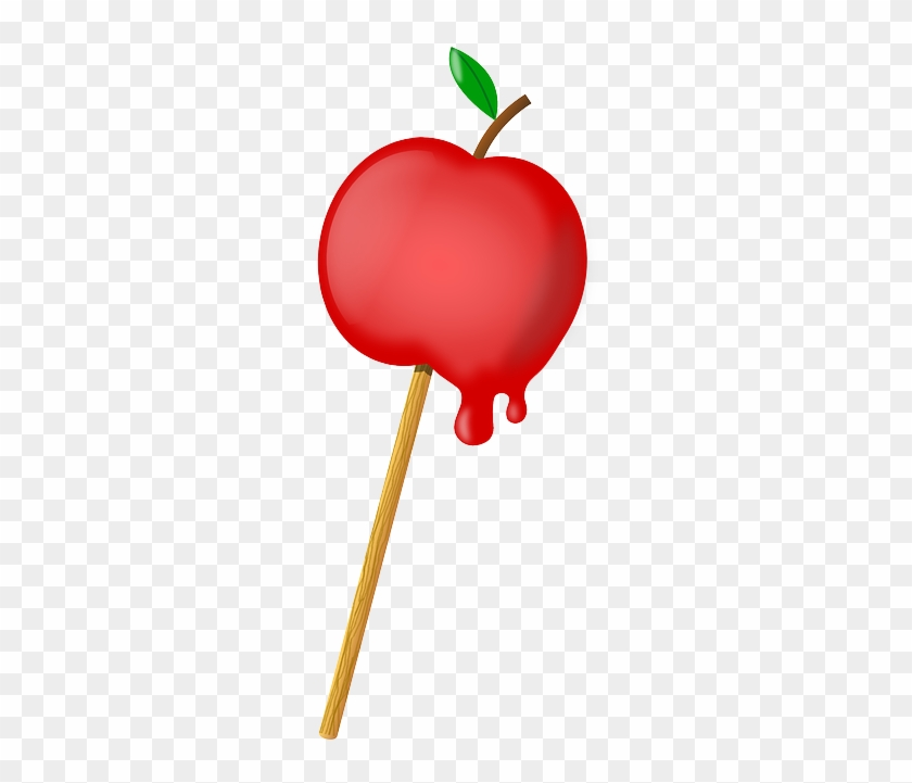 Apple, Red, Sweet, Candied, Candy, Stick, Sugar-coated - Candy Apple Clipart #96547