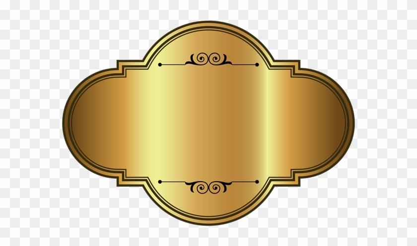 Golden Label Png Clipart Image - Luxury Badges Png #96551