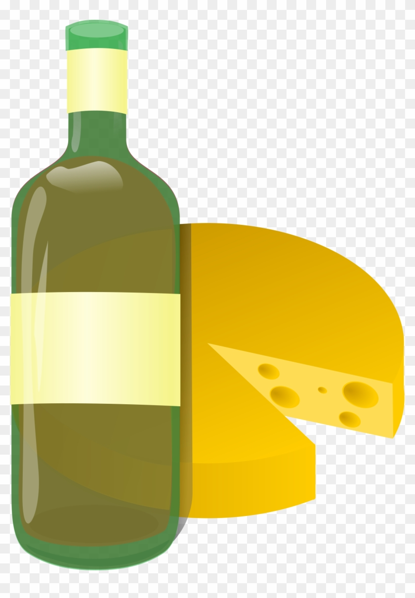 Clip Art Details - Wine And Cheese Clip Art #96558