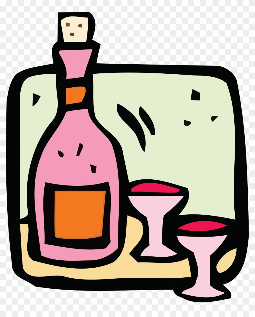 Free Clipart Of Wine - Drink #96600