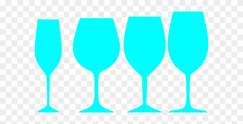 Teal Wine Glasses Clip Art - Blue Wine Glass Clip Art #96645