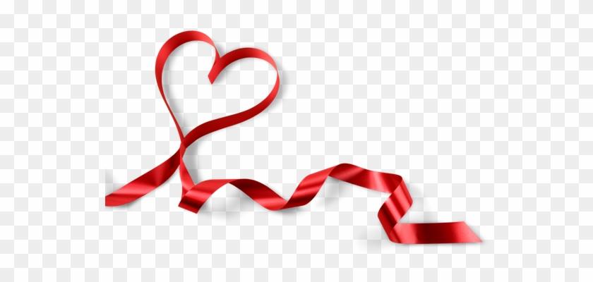 Heart-shaped Red Ribbon - Red Ribbon #96687
