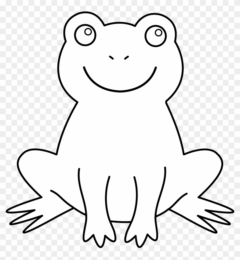 Frog Black And White Black And White Picture Of Frog - Outline Pictures Of Animals #96700