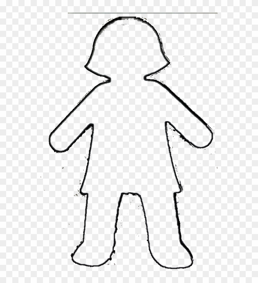 Paper - Girl Paper Doll Chain Template #96731