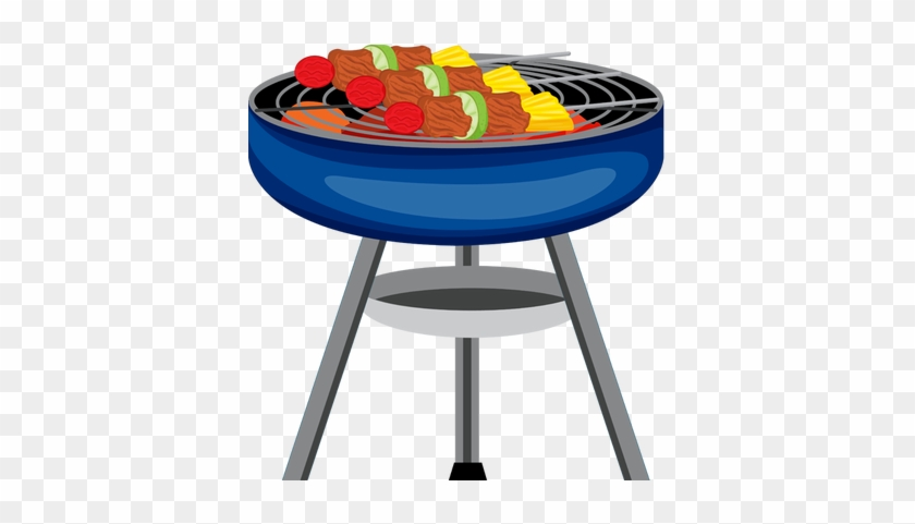Bbq Grill With Fire Clipart - Grill Clipart #96735