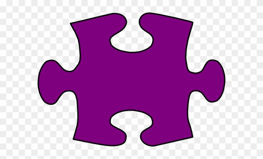 Large Puzzle Pieces Template - Purple Jigsaw Puzzle Piece #96764