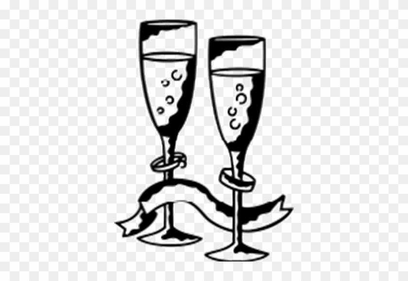 Wg-4a - Champagne Glass Clip Art #96767