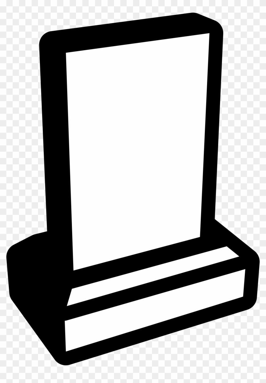 Memorial Grave Sign Clip Art - Clip Art Plaque #96765