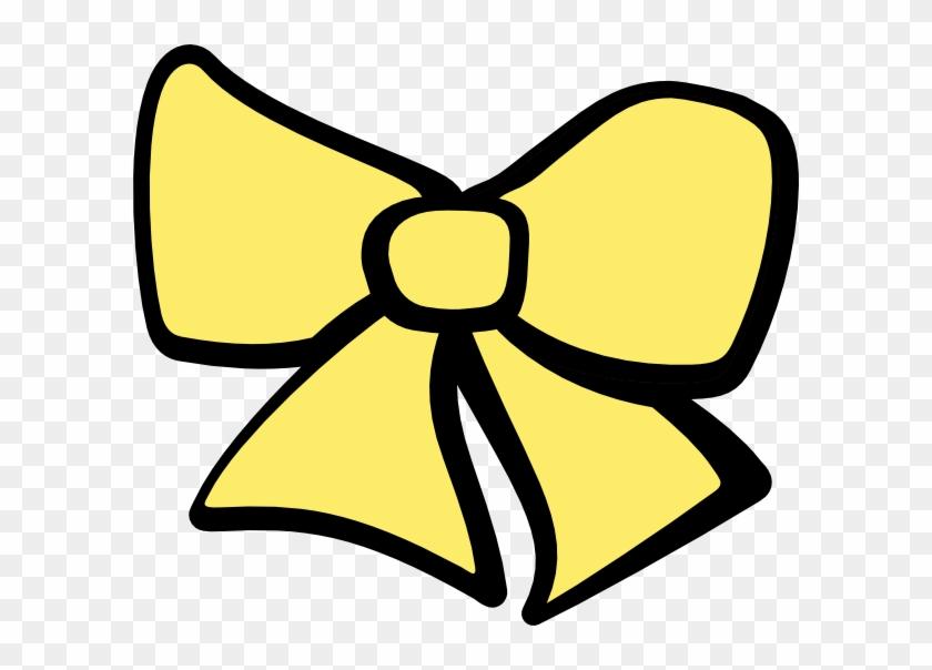 Bow Clipart Hair Bow Hi - Ribbon Black And White Clip Art #96768