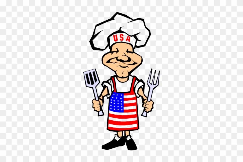 Bbq Chef - 4th Of July Bbq Clip Art #96789