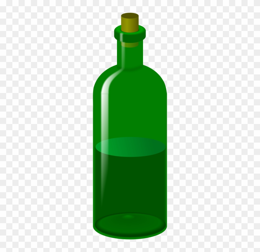 Wine Bottle - Green Bottle Clipart #96793