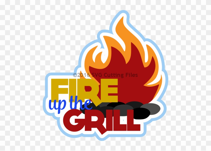 Fire Up The Grill Title - Fire Up The Grill Clipart #96894