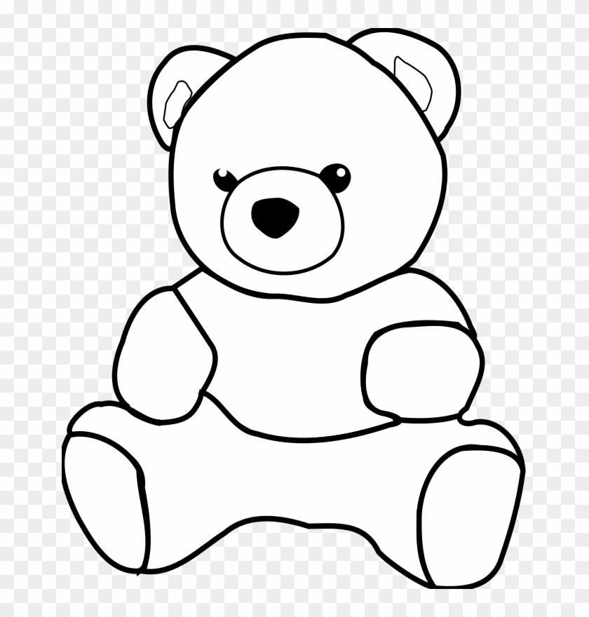 Teddy Bear Clipart - Outline Images Of Teddy Bear #96908