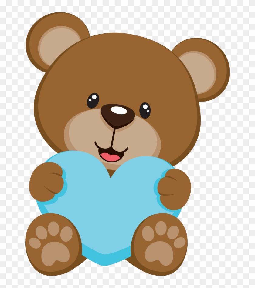 Baby Shower Bear - Ursinho Cha Revelação Png #96941
