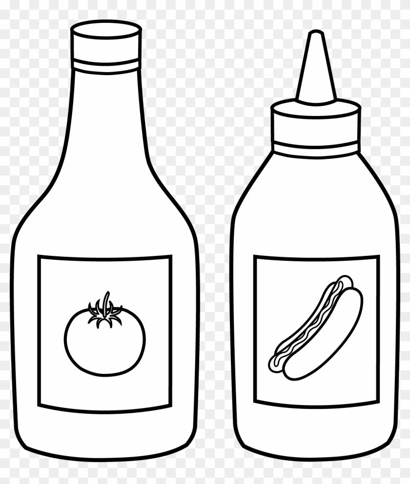 Ketchup Clip Art - Ketchup Clipart Black And White #96946