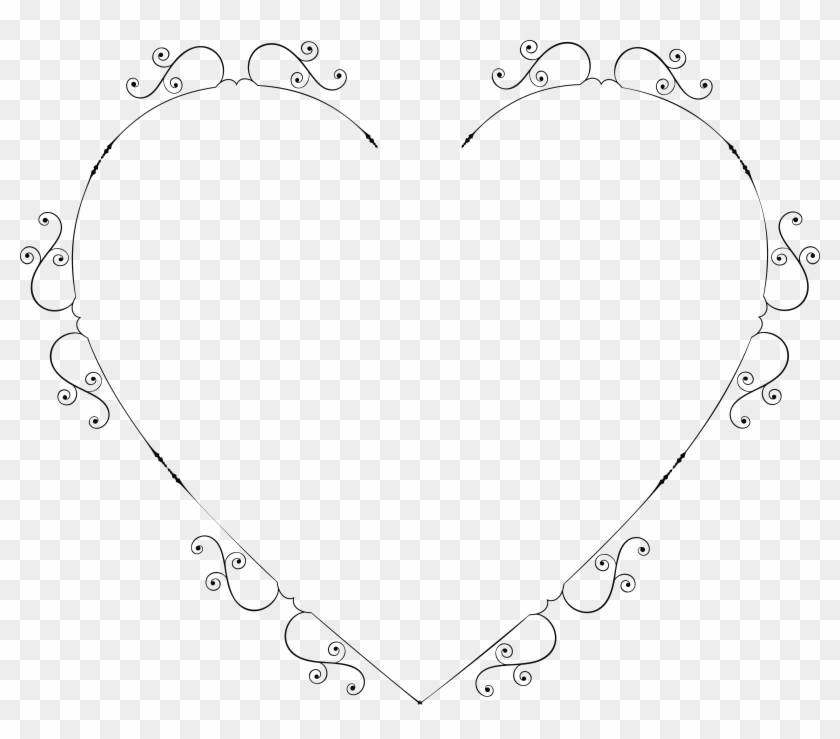 Free Clipart Of A Heart Swirl Frame - Portable Network Graphics #96947