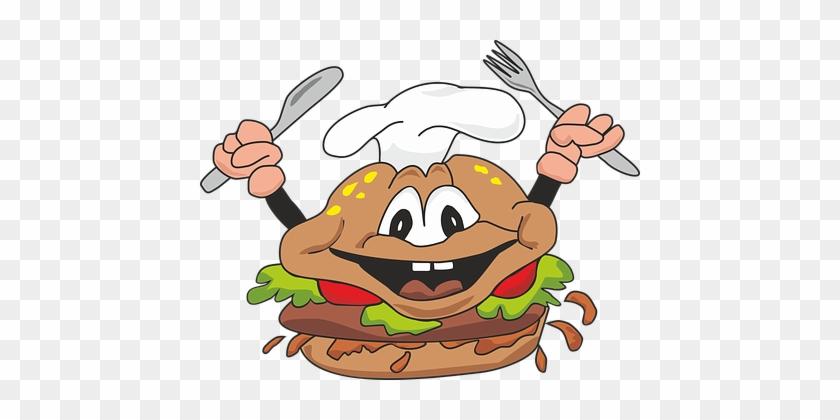 Burger Cheeseburger Fast Food Meal Restaur - Burger Kartun Png #96953