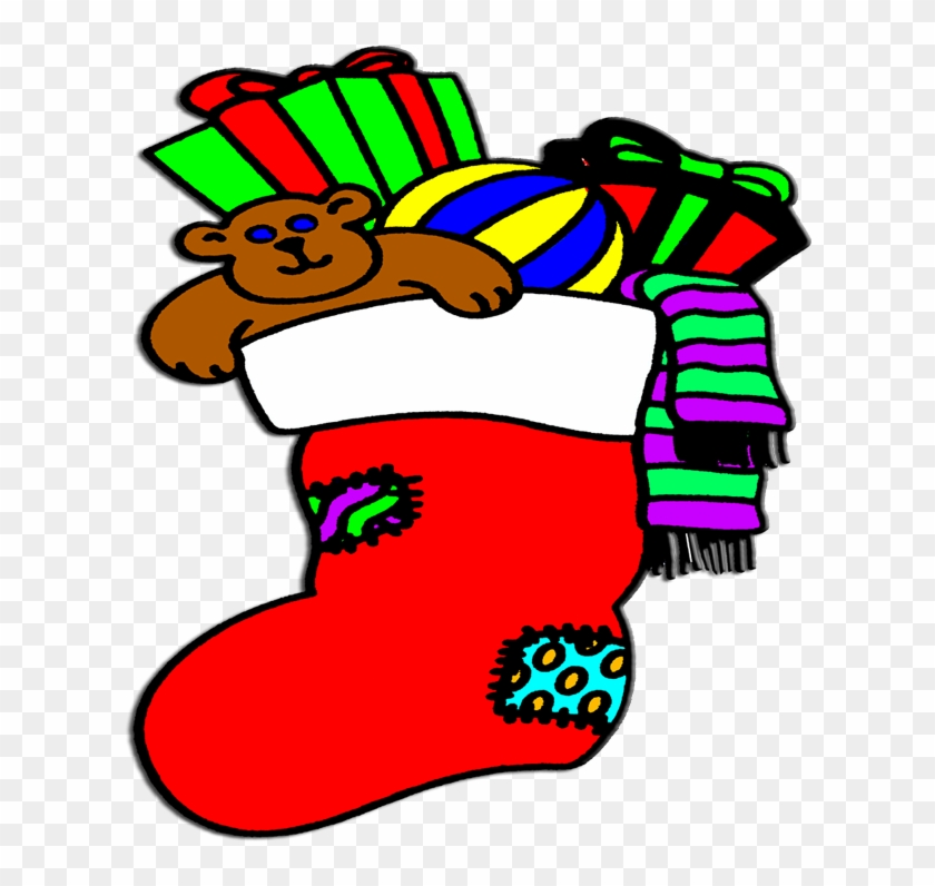 Stuffed Christmas Stocking Gifts For Kids Baby - Clipart Christmas Stockings Transparent #96962