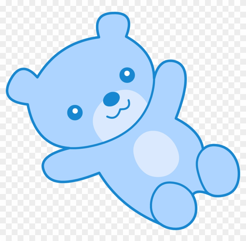 Teddy Bear Clipart Baby Blue - Teddy Bear Cartoon Blue #97036