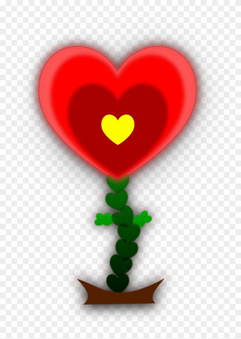 Heart Flower Background Wall Paper Wallpaper Valentine - Heart #97062