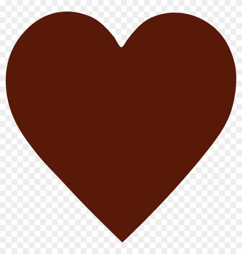 Custom - Brown Heart Clipart #97079