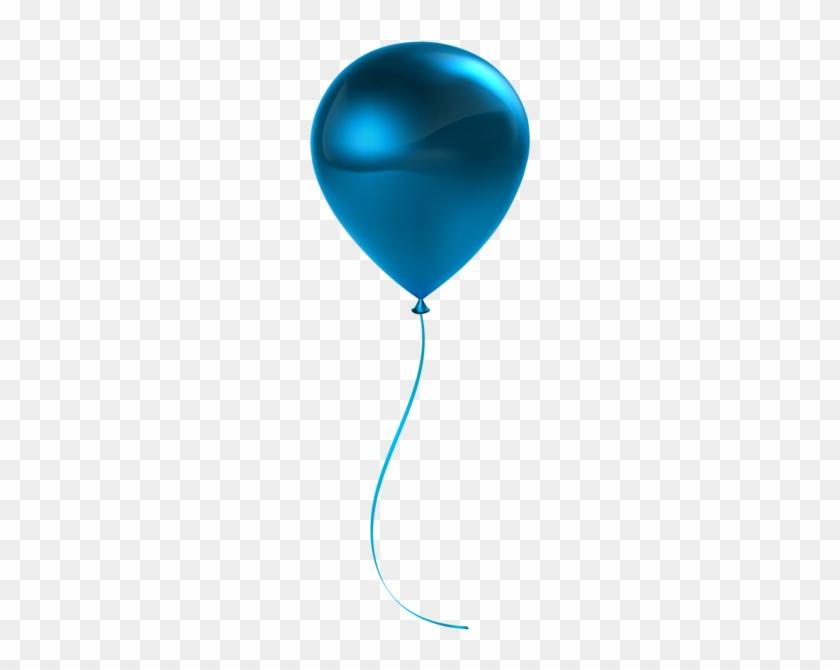 Single Blue Balloon Transparent Clip Art - Single Green Balloon Clip Art #97083