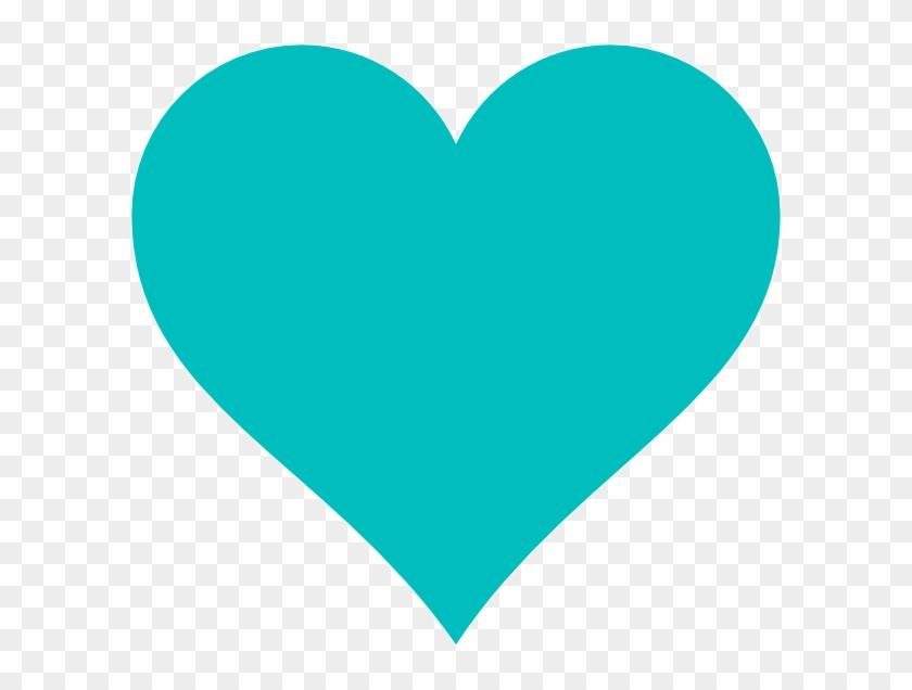 Blue Heart Clip Art At Clker - Turquoise Heart #97096