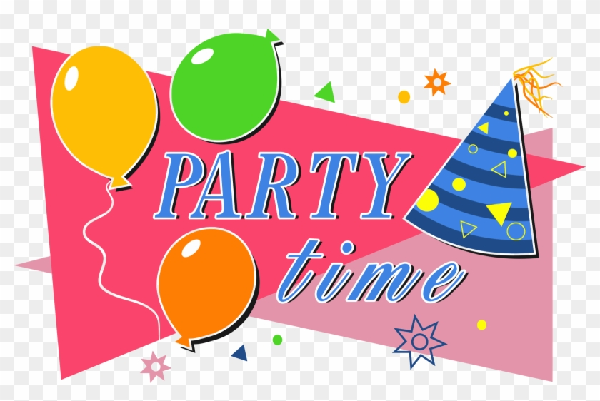 Celebration Clipart Party Time - Party Time Clipart #97103