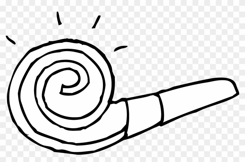 Blower - Clipart - Noisemaker Coloring Page #97216