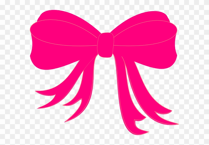 Hot Pink Bow Clip Art - Pink Bow #97253