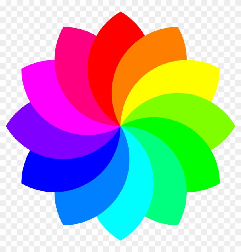 Other Popular Clip Arts - Rainbow Flower Clipart #97255
