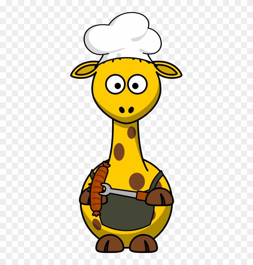Free Giraffe Barbecue - Cartoon Giraffe #97265