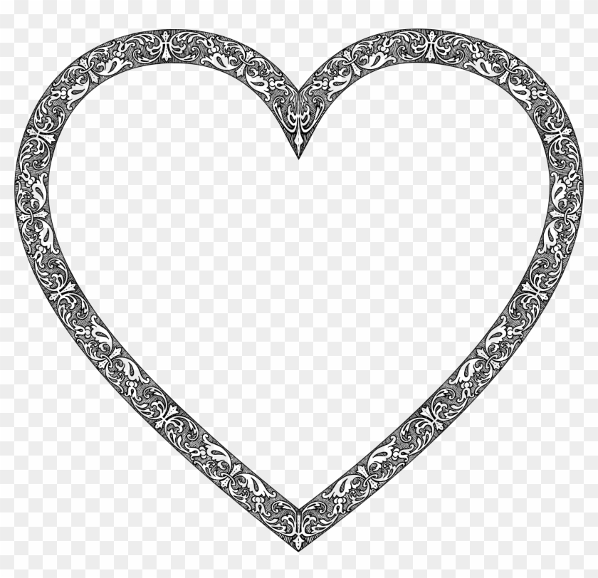 Vintage Heart - Heart Frame Black And White Png - Free Transparent ...