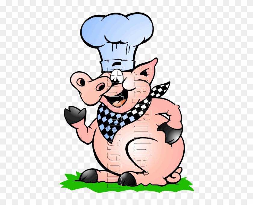 Pig Mascot Logo #97315