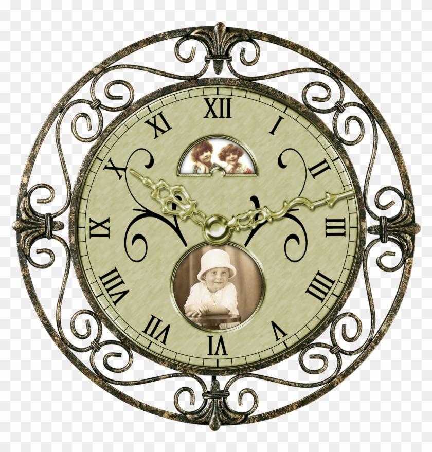 Vintage Clocks - $1 - 99 - Digital Design Boutique, - Vintage Clock Png #97499