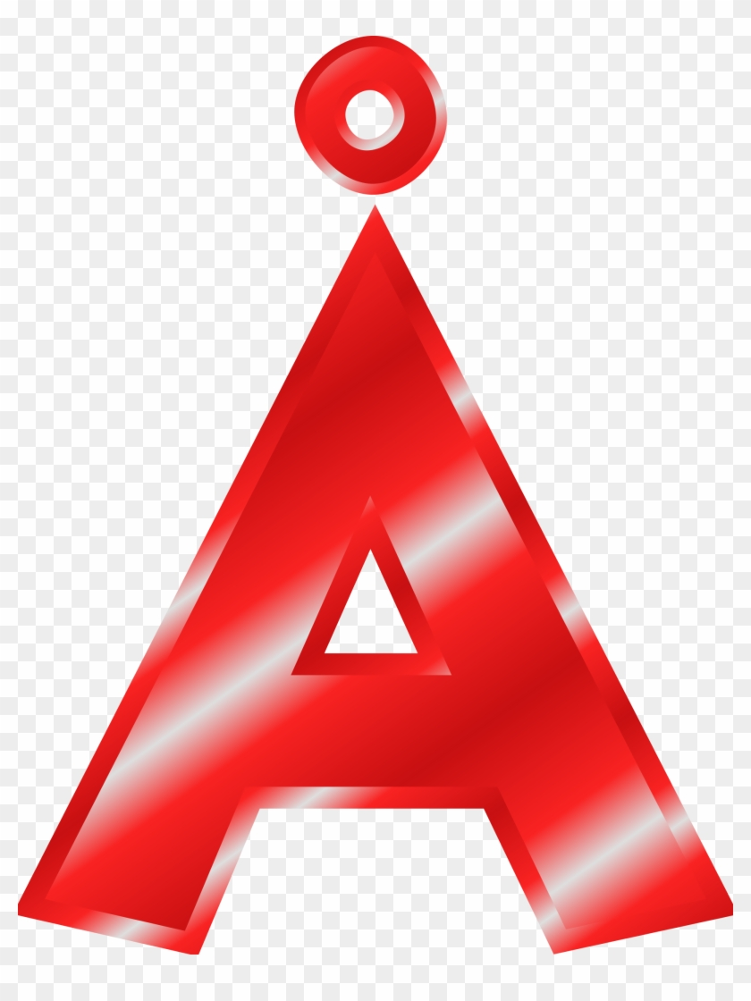 Letter A Clipart - Letter A In Red #97514