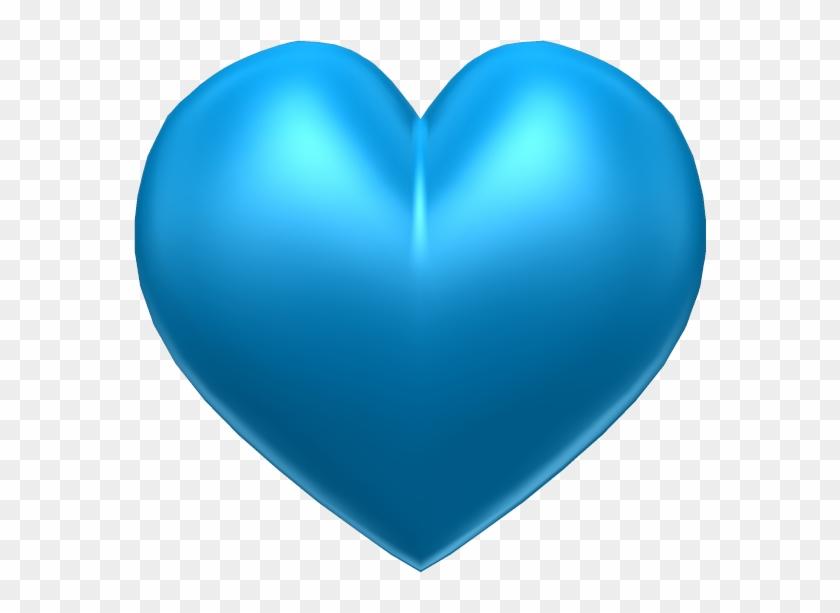 Hearts ‿✿⁀♡♥♡❤ - Corazon Celeste .png #97520
