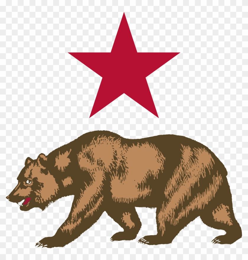 Star And Bear Clipart - Draw The California Bear #97558