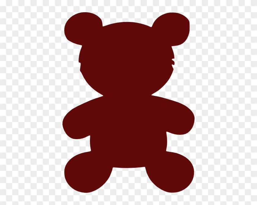 Red Teddy Bear Outline #97560