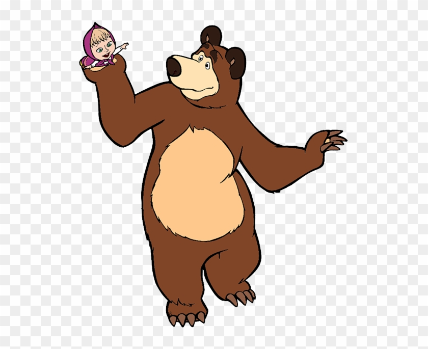 Bear - Masha And The Bear Clipart #97576