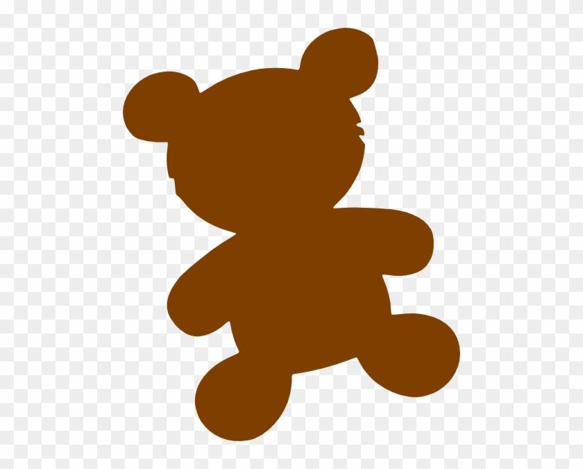Brown Bear Clip Art - Teddy Bear Silhouette Png #97604
