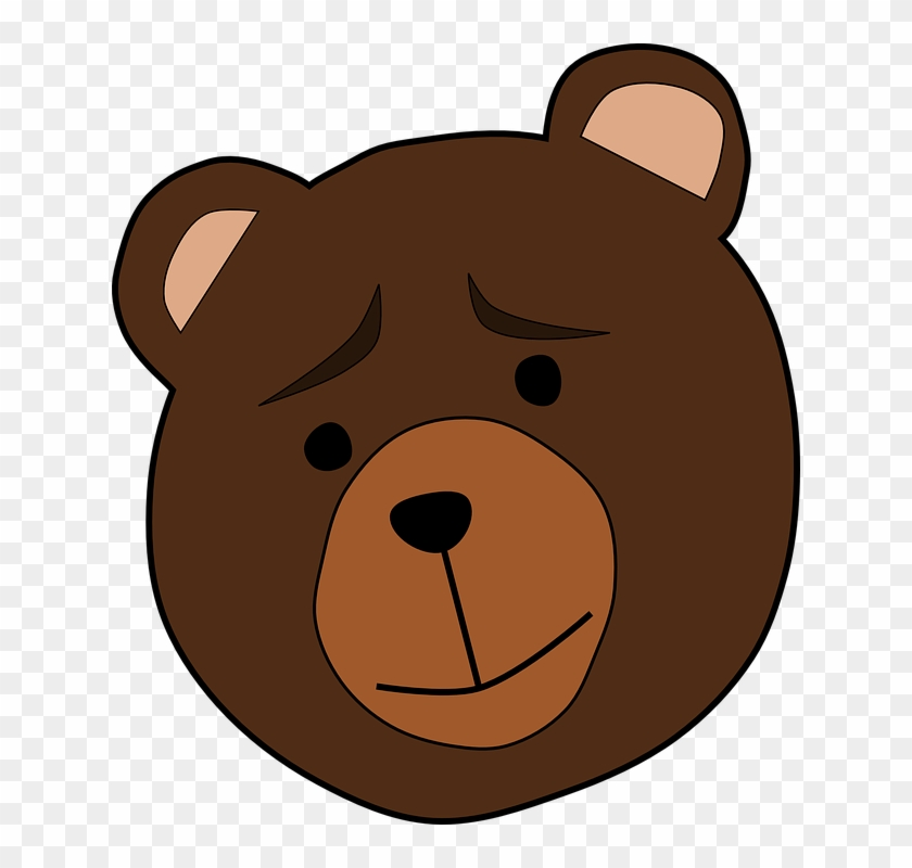 Bear Face Clip Art #97628