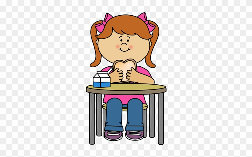 Girl Eating A Sandwich - Girl Eating Sandwich Clipart #97635